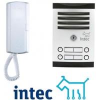 Sistemas de Citofonía marca Intec que incluyen citófonos, frentes de calle y fuente en un mismo Kit
